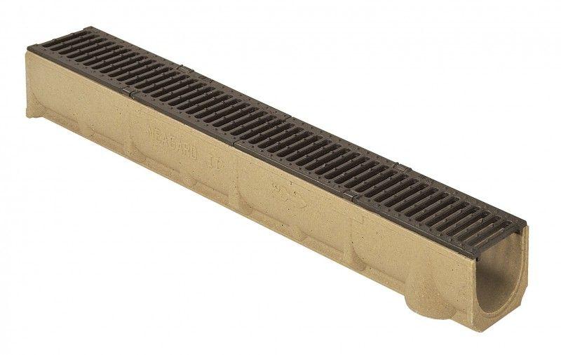 Odtokový žlab s litinovým roštem SELF Line 100 Ronn Drain complet