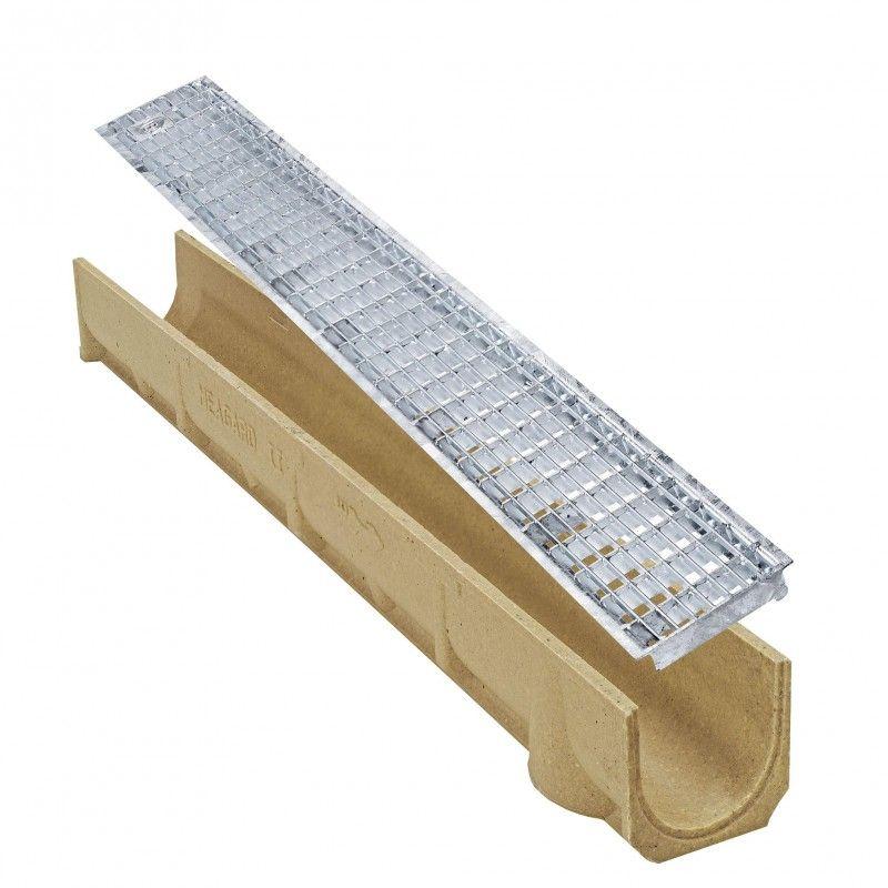 Odtokový žlab s mřížkovým roštem oko 10/30 SELF Line 100 Ronn Drain complet