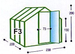 Skleník Typ F3 Gutta