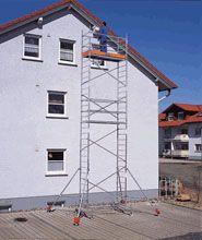 Půjčovna - Pojízdné lešení KRAUSE nadstavbový díl do v. podlahy 4 m HAKI