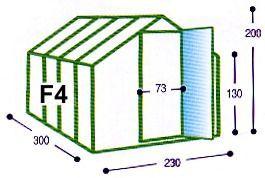 Skleník Typ F4 Gutta