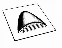 Odvětrávací taška pro šindel čtvercová Gutta