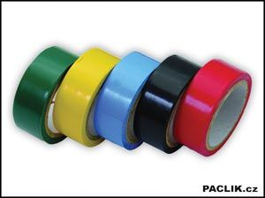 Pásky izolační PVC,sada 5ks,barevné